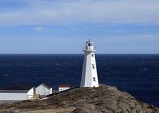 Cape Spear lighthouse with the Atlantic ocean Stock Photos