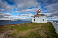 Cape Spear Lighthouse overlooking the Atlantic Ocean Royalty Free Stock Photography