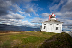 Cape Spear Lighthouse overlooking the Atlantic Ocean Stock Photos