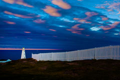 Cape Spear Lighthouse at Sunset, Newfoundland Royalty Free Stock Photography