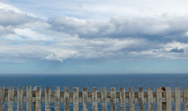 Ocean, Fence and Sky - Cape Spear, Newfoundland Stock Images