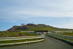 Cape Spear, St-John's. Cape Spear and its lighthouse, Newfoundland, Canada stock photography