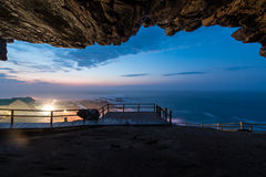 Cape St. Blaize Cave at Mossel Bay. Cave overlooking Mossel Bay, South Africa Stock Image