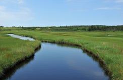 Cape St. Mary Creek. Creek near Cape St. Mary reflecting blue summer sky stock image
