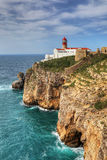 Cape St . Vincent Lighthouse in Portugal Royalty Free Stock Photo