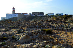 Cape St Vincent Lighthouse in Portugal is a tourist attraction Stock Photos