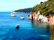 Cape Stafilos, Skopelos, Greece. Royalty Free Stock Photo