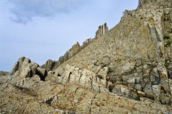 Cape Stolbchatyy. Kurily,island Kunashir Stock Photo