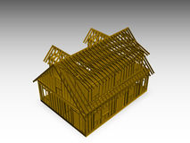 Cape style house frame Stock Photography