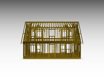 Cape style house frame Royalty Free Stock Images