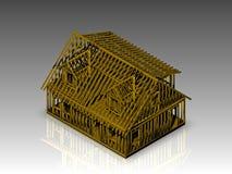 Cape style house frame Stock Image