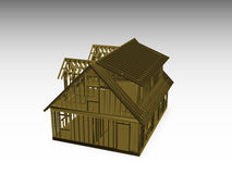 Cape style house frame Royalty Free Stock Image