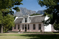 Cape style Manor House at Boschendal Wine Estate South Africa Stock Photography