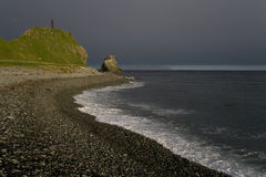 Cape Taran. Russia, Magadan region, Coney peninsula, The Sea of Okhotsk, Cape Taran Stock Image