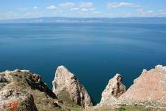 Cape Three brothers. The Baikal lake. Stock Photo