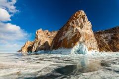 Cape Three brothers at Lake Baikal. Siberia, Russia Stock Photo