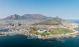 Cape Town, África do Sul & x28; view& aéreo x29; Imagem de Stock