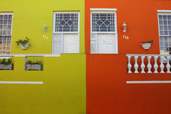 Cape town. Colorful houses in the Bo-Kaap or Cape Malay Quarter in Cape Town, South Africa stock image
