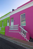 Cape town. Colorful houses in the Bo-Kaap or Cape Malay Quarter in Cape Town, South Africa royalty free stock images