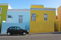 Cape town. Colorful houses in the Bo-Kaap or Cape Malay Quarter in Cape Town, South Africa royalty free stock photo