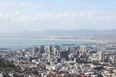Cape Town. Skyline from above, in South Africa royalty free stock photo
