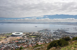 Cape Town. The new 2010 world cub soccer stadium in Cape Town, taken from signal hill Royalty Free Stock Image