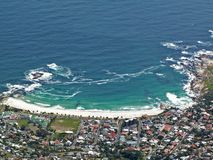 Cape town. White beach in cape town with blue water Stock Photography