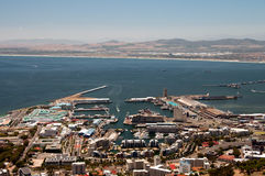 Cape Town. View over Cape Town, South Africa, with the harbor in the background Royalty Free Stock Image