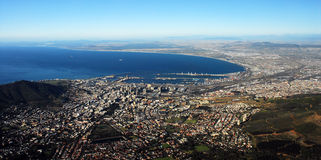 Cape Town. Picture of Cape Town made from Table Mountain stock photo