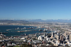 Cape Town. The City of Cape Town at the foot of Table Mountain Royalty Free Stock Photos