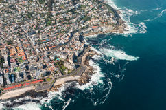 Cape Town aerial shot with focus on Sea Point Royalty Free Stock Photography