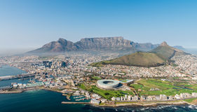 Cape Town aerial view from a helicopter Royalty Free Stock Photography