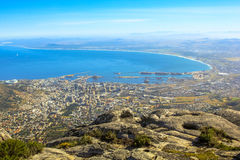 Cape Town aerial view Stock Photography