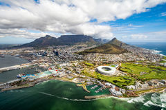 Cape Town and the 12 Apostels from above Royalty Free Stock Photography