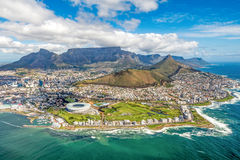 Cape Town and the 12 Apostels from above. In South Africa Royalty Free Stock Photos