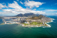 Cape Town and the 12 Apostels from above. In South Africa Royalty Free Stock Image