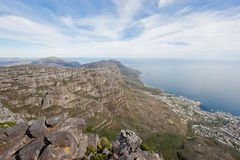 Cape town as seen from the top of Table Mountain. Stock Image
