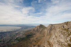 Cape town as seen from the top of Table Mountain. Royalty Free Stock Images