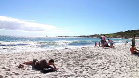 Cape Town Beach stock video footage