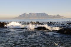 Cape Town from Blouberg Beach Stock Photography