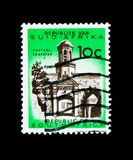 Cape Town, castle entrance, Definitive Issue - Decimal Issue ser. MOSCOW, RUSSIA - NOVEMBER 26, 2017: A stamp printed in South Africa shows Cape Town, castle royalty free stock image