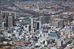 Cape Town city centre viwed from Signal Point Stock Photo