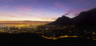Cape Town city dawn Royalty Free Stock Photo
