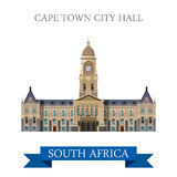 Cape Town City Hall in South Africa Flat web vecto Stock Photo