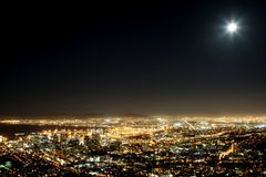 Cape Town City Lights Stock Images