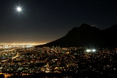 Cape Town City Lights Royalty Free Stock Photos