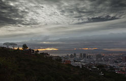 Cape town city lights royalty free stock photography