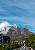 Cape Town (with clouds over the table mountain) Royalty Free Stock Images