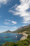 Cape Town Coast Vertical. Vertical Summer view along Cape Town Coastline towards Camps Bay Royalty Free Stock Image