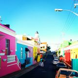 Cape Town. Colorful Street in cape town, south Africa Stock Photography